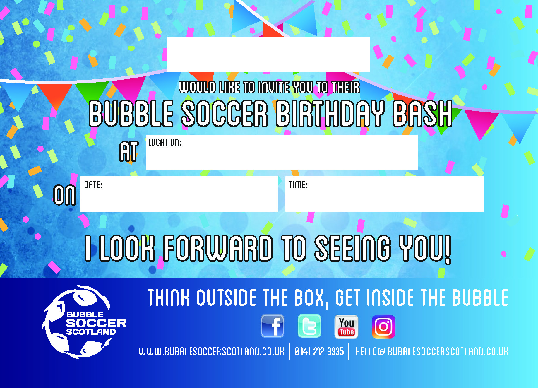 Bubble Soccer Scotland- Children\'s Birthday Parties